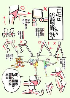 """アニメ私塾さんはTwitterを使っています: """"◎足は股関節から動く ・デク人形で足の可動域を捉えると間違う ・股間の横の骨はから足は動く ・足腰の可動域が躍動感に繋がる ・特に歩きなどは歩幅に影響する ・ポーズが硬い人は主に肩腰周りの可動域が小さいから https://t.co/JwaNkfj1rB"""""""