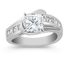 Princess Cut Diamond Engagement Ring in Platinum - Sissy ~ does this look familiar?!?