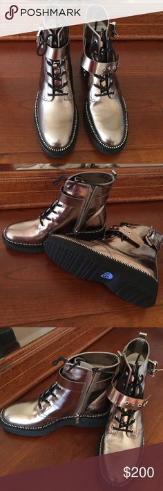 Micheal Kors boots. Very classy and chic Micheal Kors metallic boots. Brand new, never used. KORS Michael Kors Shoes Ankle Boots & Booties