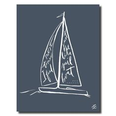Ben Rector- Sailboat Lyric Poster