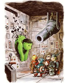 The Avengers clan gets a Winnie the Pooh redesign in Charles Paul Wilson