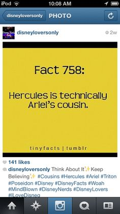 No, because Arial's father is Pacidant or however you say it and Hercules' uncle is Trident.