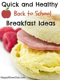 Your mornings don't have to be hectic. Let us ease your mind with these quick and healthy back to school breakfast ideas! Your kids can easily make them too!
