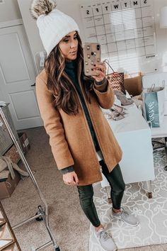 How cute is this winter coat!? Love the whole outfit!