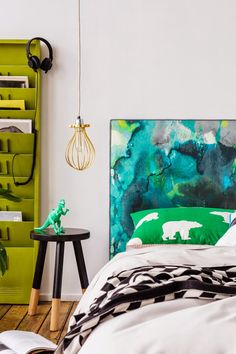 ChicDecó: | Watercolour bedheads for kid's bedrooms