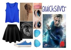 """Quicksilver - PARTY"" by kelsey-aherne ❤ liked on Polyvore featuring LE3NO, Converse, Quiksilver and Ray-Ban"