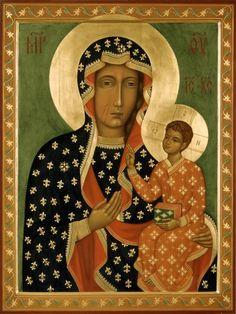 """Mother of God """"Chestohova"""" orthodox icon"""