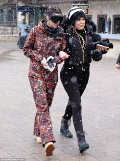 Already moving on: News of the show's axing came as Khloe and her family enjoyed a ski trip to Vail, Colorado