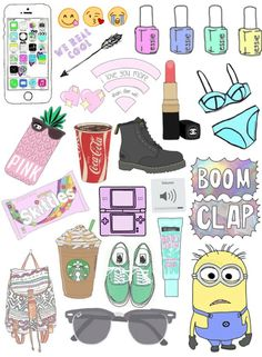 Find images and videos about pink, wallpaper and minions on We Heart It - the app to get lost in what you love. Tumblr Stickers, Cool Stickers, Printable Stickers, Laptop Stickers, Journal Stickers, Planner Stickers, Essie, Homemade Stickers, Iphone Wallpaper Vsco