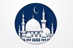 mosque paper cutting vector by lyeyee on Ramadan Cards, Mubarak Ramadan, Islamic Posters, Islamic Art, Paper Cutting, Mosque Vector, Ramadan Poster, Ramadan Decorations, Graphic Illustration
