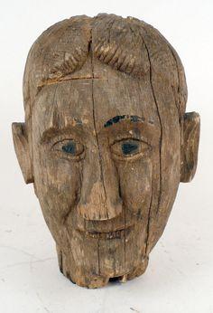Anonymous Works: Folk Art Bust of a Man