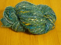 Handspun Yarnteal blue yarn Worsted Yarn Wool Yarn Knitting Yarn 2 ply yarn 3.6 oz by AdiRadi on Etsy