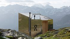 The On Mountain Hut Goes off the Grid with an Alpine Architectural Getaway - Design Milk Solar Powered Lamp, Nachhaltiges Design, House Design, Refuge, Construction, Creature Comforts, Swiss Alps, Off The Grid, Berg