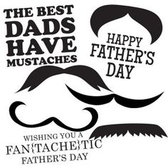This printable digital stamp set is perfect for that super Dad with a super mustache. It will make creating this years Father's Day card lots of fun.