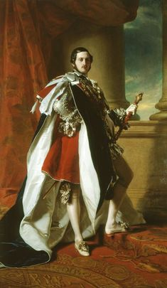 Portrait of Prince Albert in Garter robes, 1843 http://upload.wikimedia.org/wikipedia/commons/0/05/Prince_Albert_404387.jpg