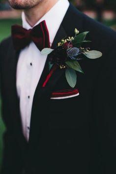 An Elegant Burgundy and Navy Fairytale Orlando Wedding ceremony Day Burgundy Wedding, Red Wedding, Wedding Groom, Wedding Attire, Luxury Wedding, Navy Tux Wedding, Wedding Colors, Black Tuxedo Wedding, Wedding Ideas