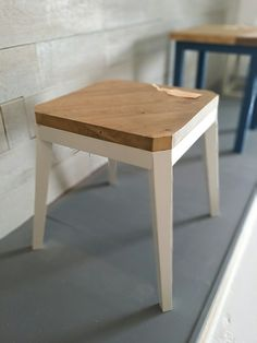 Reclaimed Wood Side Table 'Octi' by OLLUfurniture on Etsy, £225.00