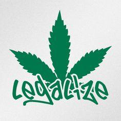 Legalize Marihuana Cannabis Leaf Car Body Window Bumper Vinyl Decal Sticker #Oracal