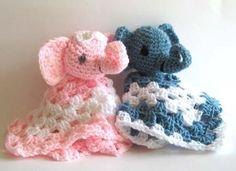 Crochet Elephant blankie