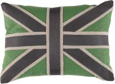 Union Jack in Green Linen Lacefield Designs