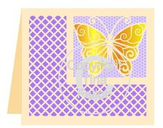 Butterfly 1 Card Template No2 on Craftsuprint designed by Tina Fallon - Butterfly 1 Card Template  - Now available for download!