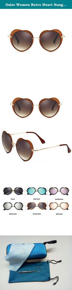 28f9091e711d Osier Women Retro Heart Sunglasses rimmed Travel Eyewear. Best Quality  Sunglasses Exquisite Quality: With