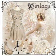 Vintage by doilygirl on Polyvore featuring mode, Sondra Roberts and vintage