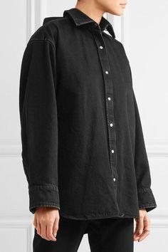 Balenciaga - Oversized Denim Shirt - Black - FR38