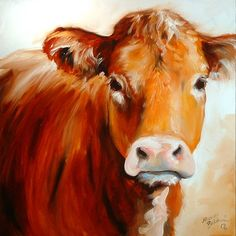 COW 18 18 by Marcia Baldwin Cow Paintings On Canvas, Farm Paintings, Animal Paintings, Canvas Art, Cow Canvas, Canvas Size, Painting & Drawing, Watercolor Paintings, Easy Watercolor