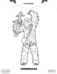Free Star Wars Coloring Chewbacca