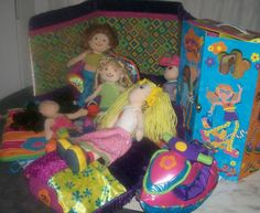 HUGE HUGE LOT OF GROOVY GIRLS DOLLS, HOUSE, SOFA, STORAGE BOX AND MORE!!