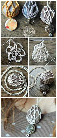 Breathtaking Crochet So You Can Comprehend Patterns Ideas. Stupefying Crochet So You Can Comprehend Patterns Ideas. Crochet Stone, Crochet Art, Crochet Gifts, Crochet Patterns, Knitted Necklace, Braided Necklace, Crochet Earrings, Stone Necklace, Rock Necklace
