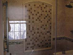 Charming Tile Shower Ideas For Bathroom Wall Design Pictures: Attractive  Subway Cream Brown Marble Subway Tile Shower Ideas With Curved Bath Panel  And Glass ...