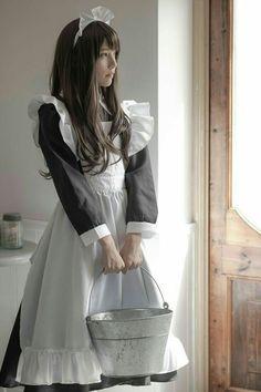 Cute Asian Girls, Beautiful Asian Girls, Cute Girls, Maid Cosplay, Cosplay Girls, Anime Maid, Maid Outfit, Cute Young Girl, Cute Japanese Girl