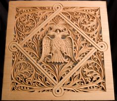 Konstantinos Pilarinos, Hand-carved bass wood panel for an icon screen, 2009, Photograph by Alan Hatchett