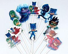 PJ Masks Cupcake Toppers-PJ Masks Birthday Party-PJ Masks