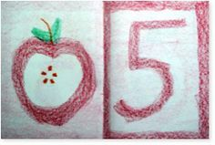 main lesson book drawing- apple seed star and the number 5 1st Grade Math, First Grade, Grade 1, Drawing Apple, Book Drawing, Waldorf Education, Kids Education, Waldorf Math, September Preschool