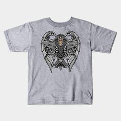 mayan aztec pattern eagle ravenclaw shield  Kids T-Shirt #Kids #TShirt #tee #clothing #teepublic #pattern #vintage #blackwhite #ravenclaw #hawk #eagle #animal #bird #tattoo #mayan #indian #americannative