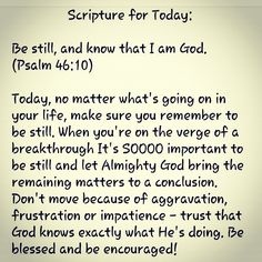 SCRIPTURE FOR THE DAY: