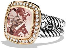 David Yurman Albion Ring with Morganite, Diamonds, and Rose Gold on ShopStyle