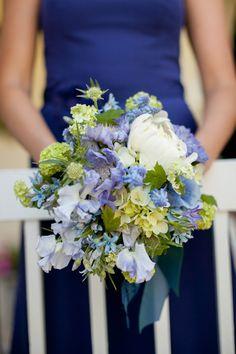 Blue Bridesmaid Bouquet