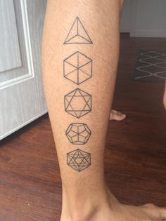 First tattoo! Platonic Solids by Chris Cook @ Studio XIII Orlando - Imgur