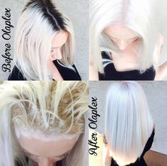 They used Redken and Olaplex to lighten her and toned with Wella Illumina 9/60, 10/69, 8/69 and 6 vol.