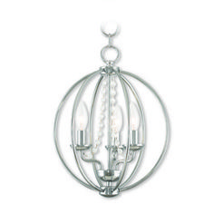 Livex Transitional Four Light Mini Chandelier/Ceiling Mount from Arabella Collection Finish, Polished Chrome Globe Chandelier, Linear Chandelier, Globe Pendant, Mini Pendant, Light Pendant, Livex Lighting, Chandelier Lighting, Kitchen Lighting, Lighting Ideas