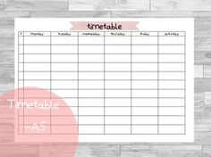 Free Planner Printables | fits Leuchtturm large | Timetable | Stundenplan | Back to school | kostenlos | Schule