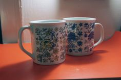 Set of two Flower mugs by popstarscrafts on Etsy, $6.00