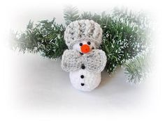 Snowmen crochet Christmas decoration  Home decor Christmas