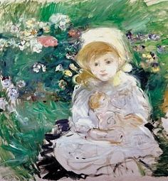 Berthe Morisot  Fillette à la poupée  Portrait of Julie Manet, the Artist's Daughter
