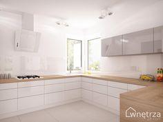 kuchnia biała z drewnem - Szukaj w Google