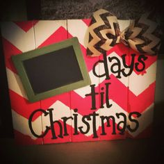 Days til Christmas Countdown Wood Sign by BackyardWoodworksRJB